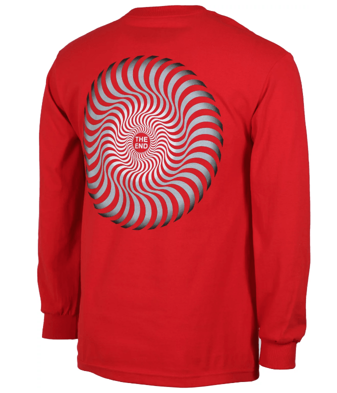 SPITFIRE Classic Swirl Fade L/S T-Shirt Red MENS APPAREL - Men's Long Sleeve T-Shirts Spitfire
