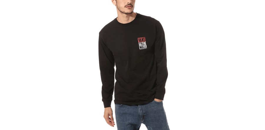 VANS New Stax Long Sleeve T-Shirt Black