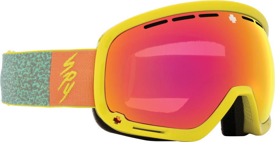 SPY Marshall Neon Pop - HD Plus Bronze with Pink Spectra Mirror + HD Plus LL Persimmon with Silver Spectra Mirror Snow Goggles GOGGLES - Spy Goggles Spy