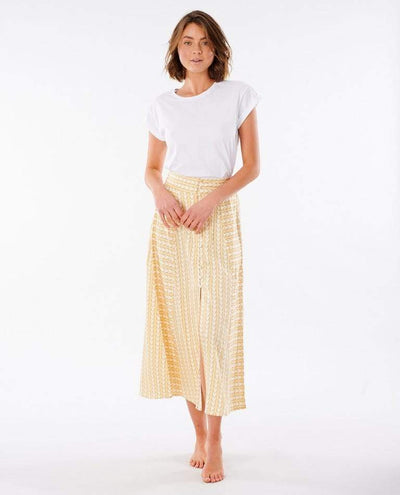 RIP CURL Geo Skirt Women's Gold WOMENS APPAREL - Women's Skirts Rip Curl