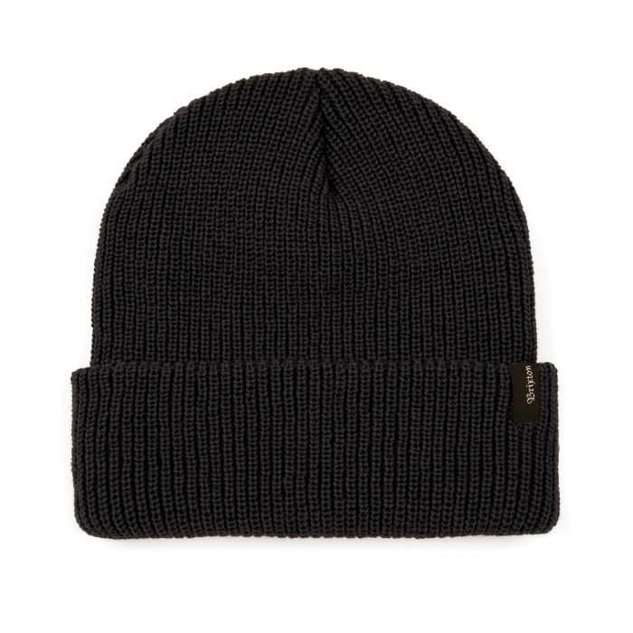 BRIXTON Heist Beanie Black MENS ACCESSORIES - Men's Beanies Brixton