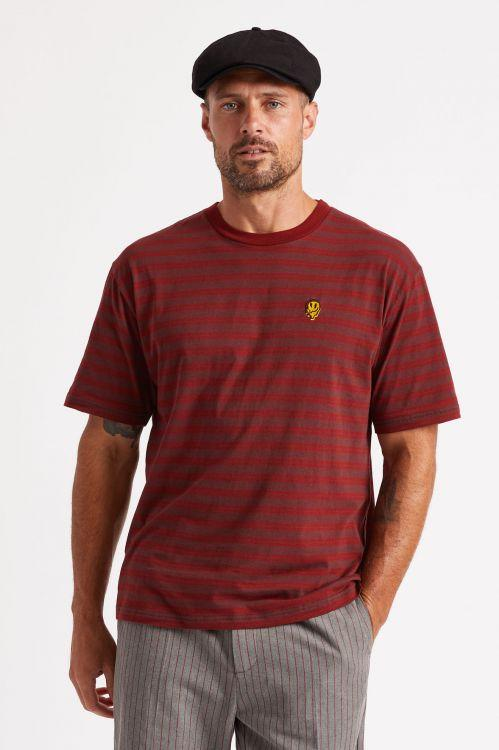 BRIXTON Hilt Melter T-Shirt Dark Brick/Wine MENS APPAREL - Men's Short Sleeve T-Shirts Brixton