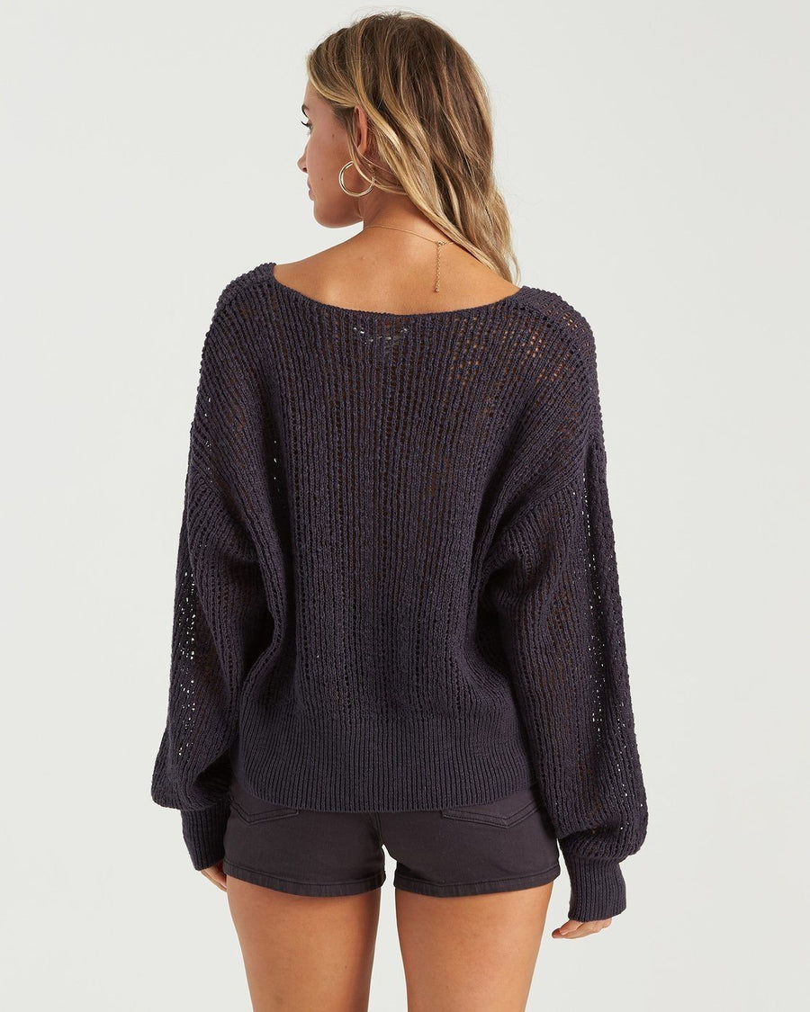 BILLABONG Feel The Breeze Sweater Women's Ink WOMENS APPAREL - Women's Knits and Sweaters Billabong