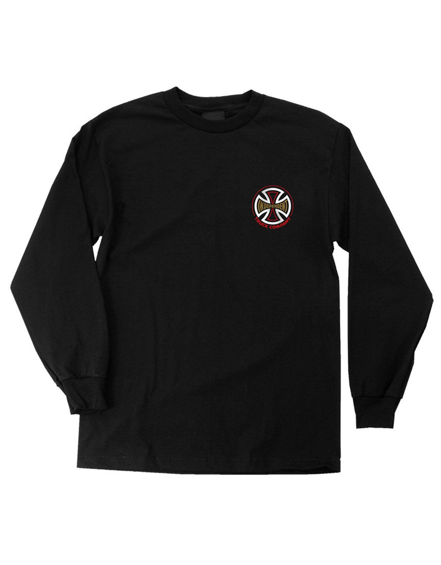 INDEPENDENT TC Spade L/S T-Shirt Black MENS APPAREL - Men's Long Sleeve T-Shirts Independent M