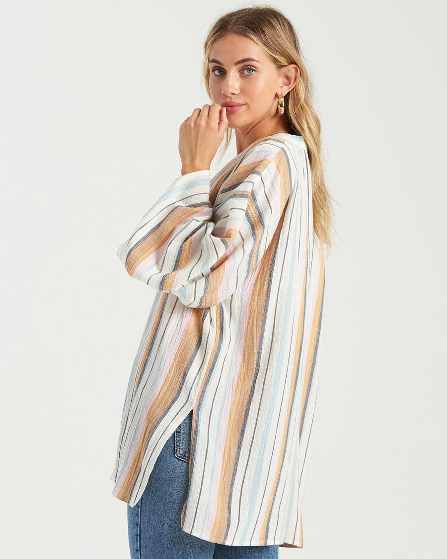 BILLABONG Parisian Nights Kimono Top Women's Multi WOMENS APPAREL - Women's Cover Ups and Kimonos Billabong S/M