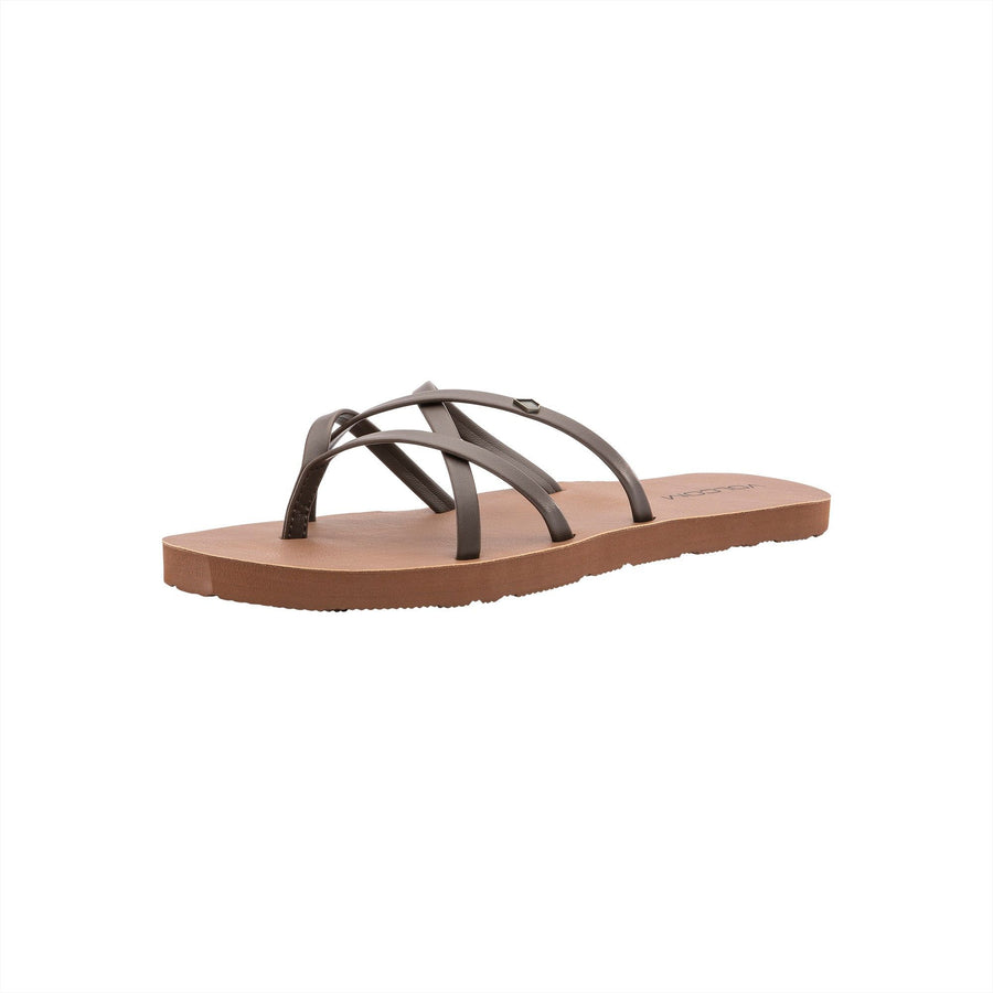 VOLCOM New School II Sandals Women's Brown FOOTWEAR - Women's Sandals Volcom 6