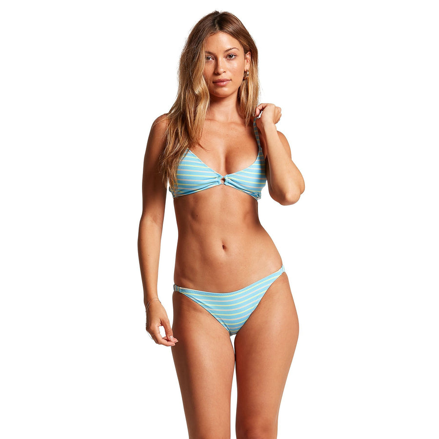 VOLCOM Next In Line Hipster Bikini Bottom Women's Coastal Blue WOMENS APPAREL - Women's Swimwear Bottoms Volcom
