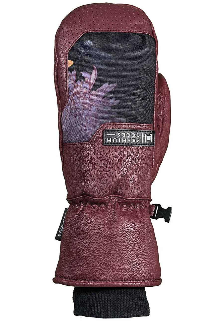L1 Lo-Fi Mitt Women's Wine WINTER GLOVES - Women's Snowboard Gloves and Mitts L1