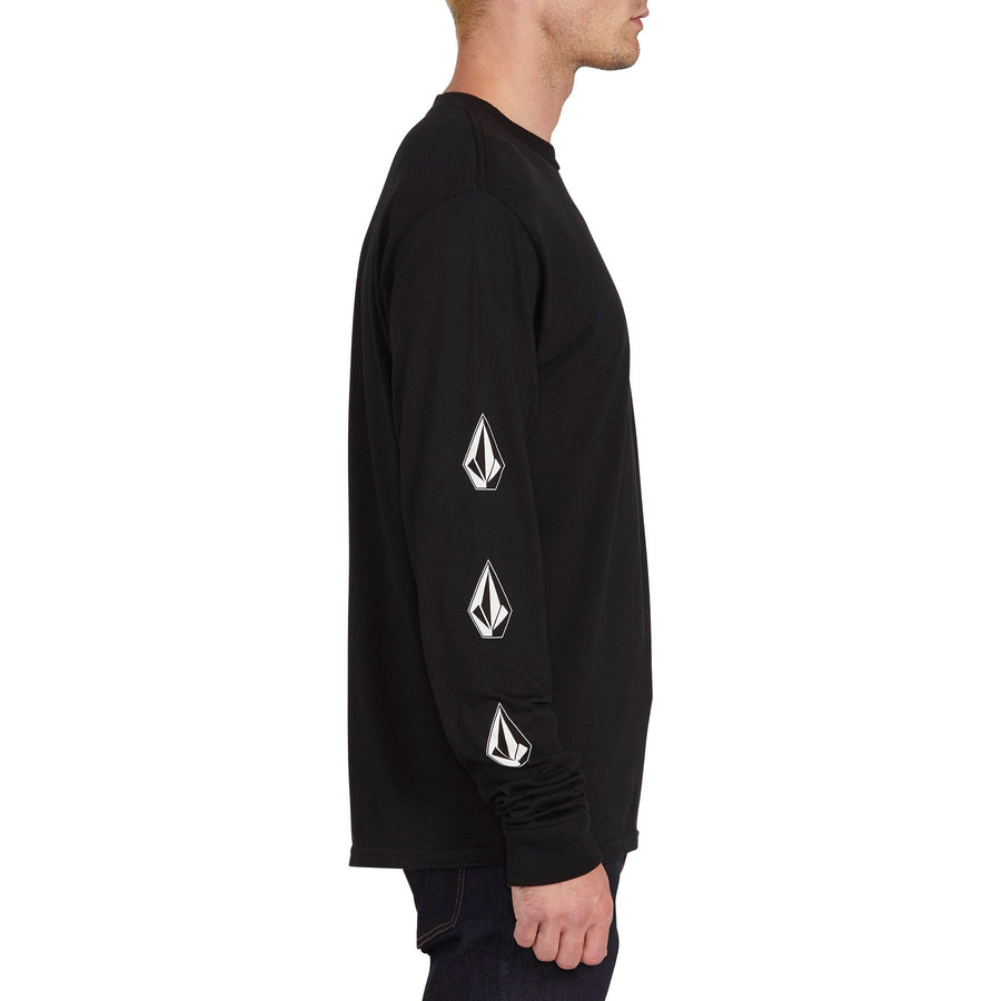 VOLCOM Deadly Stones Long Sleeve T-Shirt Black MENS APPAREL - Men's Long Sleeve T-Shirts Volcom M