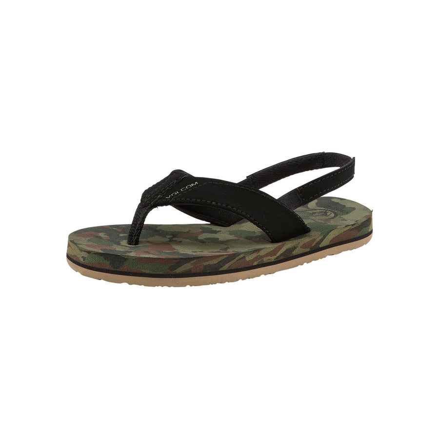 VOLCOM Victor Sandals Little Boys Dark Camo FOOTWEAR - Youth Sandals Volcom