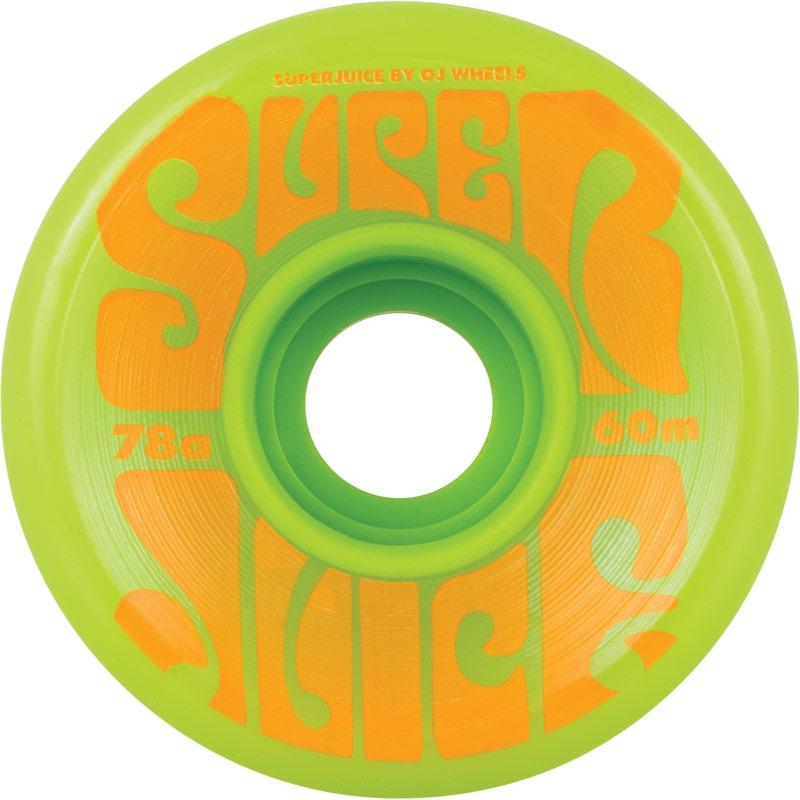 OJS Super Juice 78A 60mm Green Skateboard Wheels