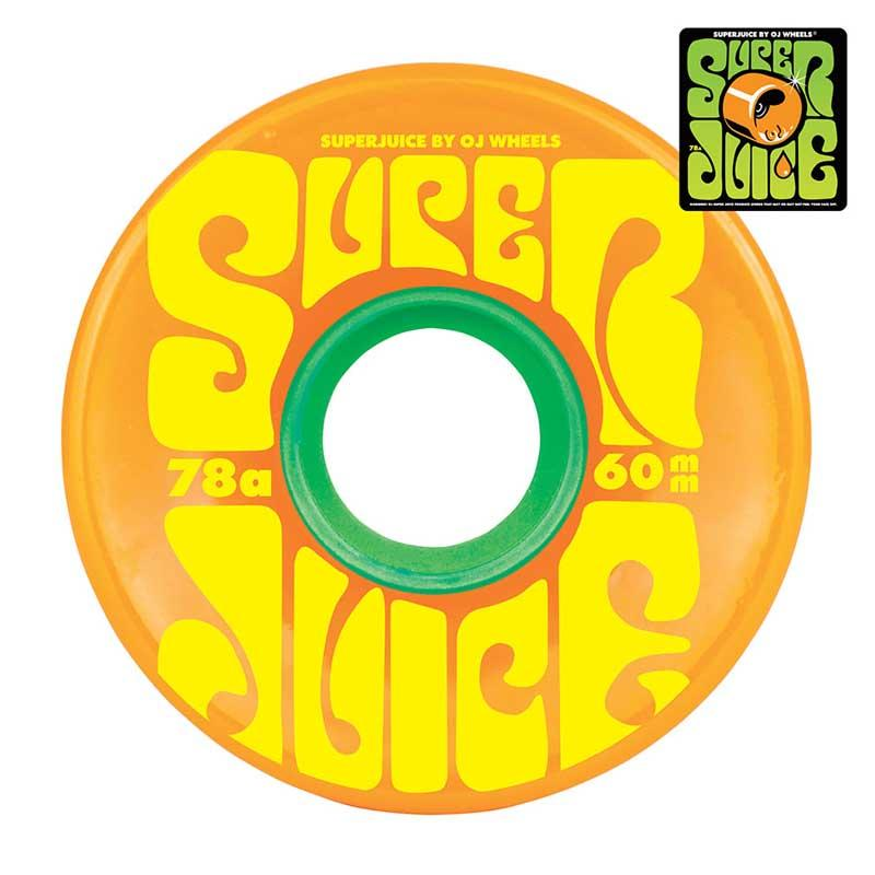 OJS Super Juice 78A 60mm Citrus Skateboard Wheels