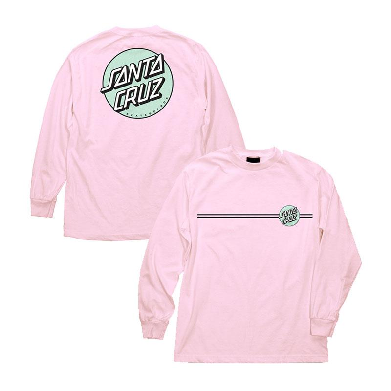SANTA CRUZ Other Dot L/S T-Shirt Pink MENS APPAREL - Men's Long Sleeve T-Shirts Santa Cruz M