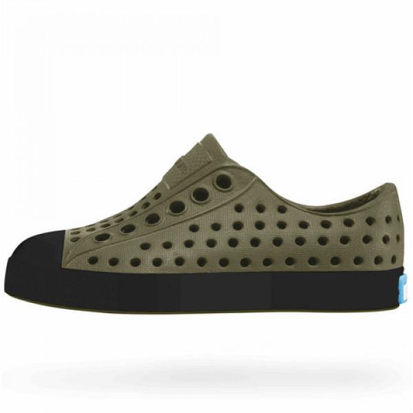 NATIVE Jefferson Junior Shoes Utili Green/ Jiffy Black FOOTWEAR - Youth Native and People Shoes Native Shoes 3