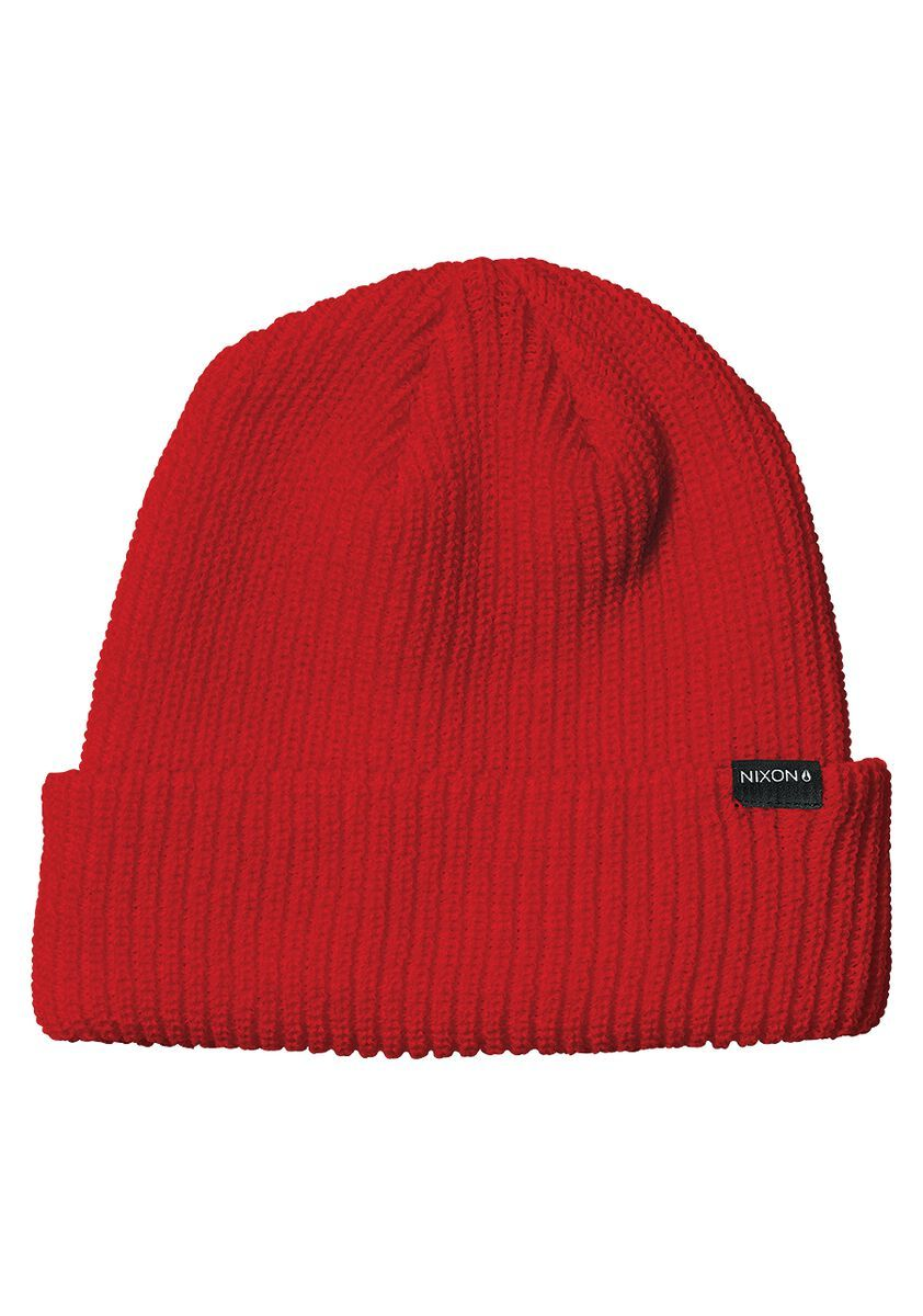 NIXON Thomas Beanie All Red MENS ACCESSORIES - Men's Beanies Nixon