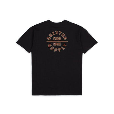 BRIXTON Oath V T-Shirt Black/ Dark Brick MENS APPAREL - Men's Short Sleeve T-Shirts brixton
