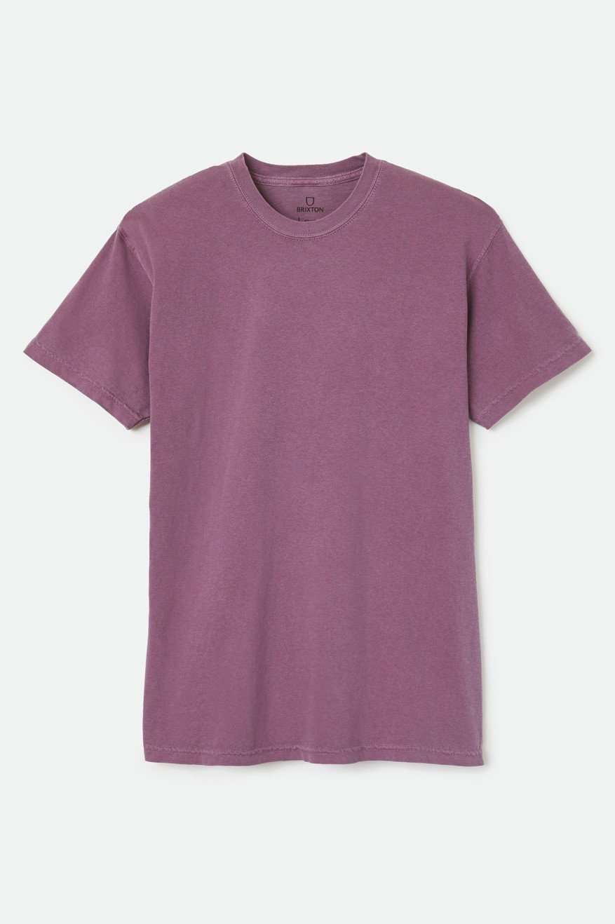 BRIXTON Basic Reserve T-Shirt Violet MENS APPAREL - Men's Short Sleeve T-Shirts Brixton
