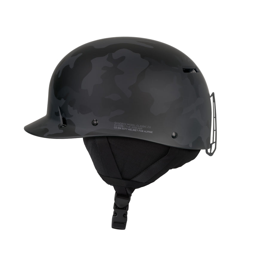 SANDBOX Classic 2.0 Snow Helmet Black Camo 2021 SNOWBOARD ACCESSORIES - Men's Snowboard Helmets Sandbox