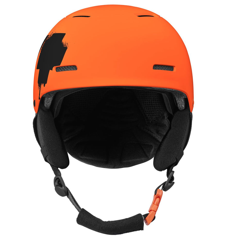 SPY Lil' Astronomic MIPS Snow Helmet Youth Matte Orange - Black Splatter Logo 2021 SNOWBOARD ACCESSORIES - Youth Snowboard Helmets Spy