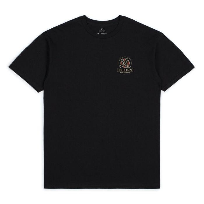 BRIXTON Reach T-Shirt Black MENS APPAREL - Men's Short Sleeve T-Shirts Brixton
