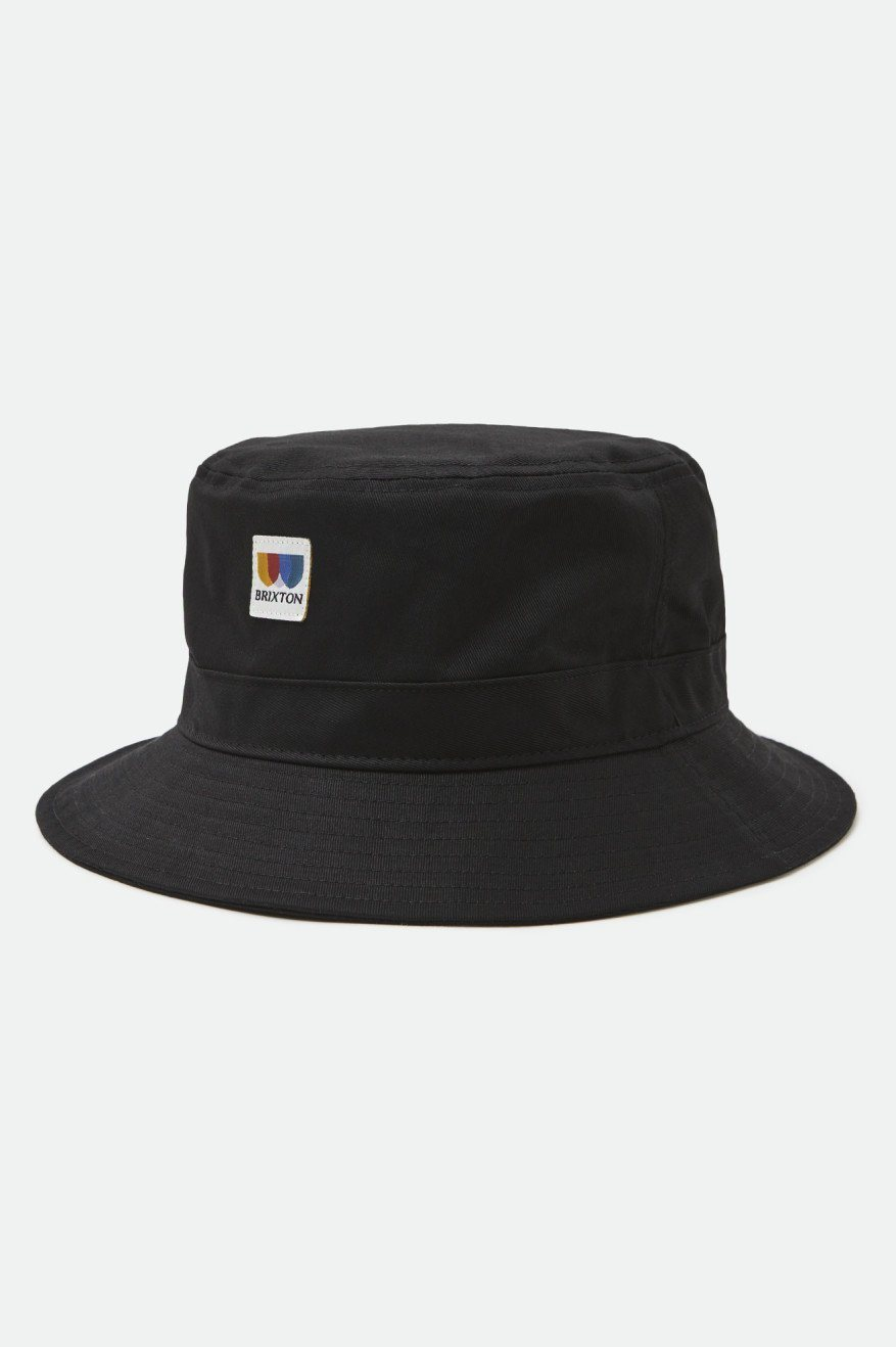 BRIXTON Alton Packable Bucket Hat Black MENS ACCESSORIES - Men's Bucket Hats Brixton S/M
