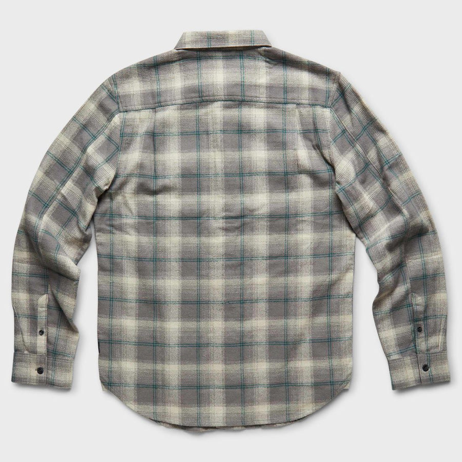 ROARK Tundra Flannel Natural MENS APPAREL - Men's Long Sleeve Button Up Shirts Roark Revival M