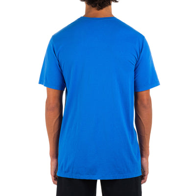 HURLEY Everyday Washed One And Only Solid T-Shirt Signal Blue MENS APPAREL - Men's Short Sleeve T-Shirts Hurley