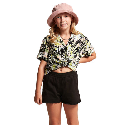 VOLCOM Strutin Stone Shorts Girls Black KIDS APPAREL - Girl's Walkshorts Volcom