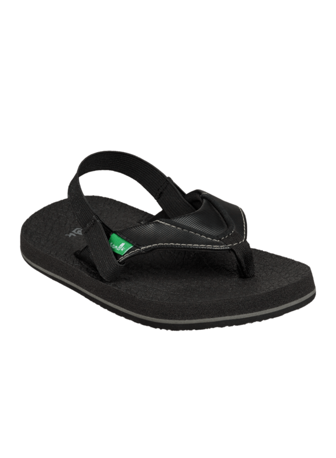 SANUK Root Beer Cozy Sandals Toddler Black FOOTWEAR - Youth Sandals Sanuk