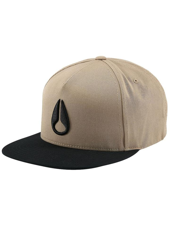 NIXON Simon Snap Back Hat Khaki/Black MENS ACCESSORIES - Men's Baseball Hats Nixon