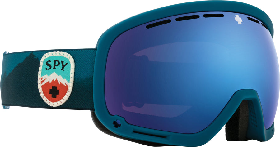 SPY Marshall Trailblazer Blue - HD Plus Rose With Dark Blue Spectra Mirror + HD Plus LL Gray Green With Red Spectra Mirror Snow Goggles GOGGLES - Spy Goggles Spy
