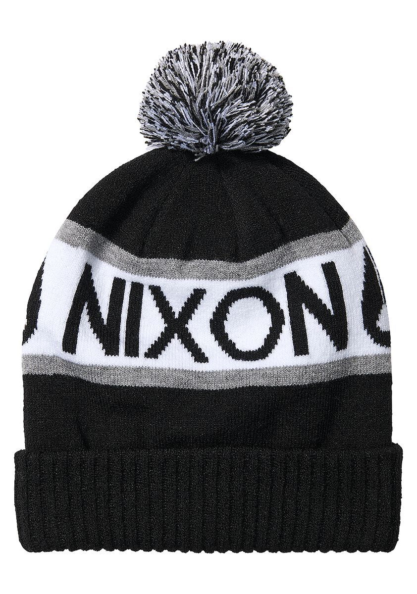 NIXON Teamster Beanie Black MENS ACCESSORIES - Men's Beanies Nixon