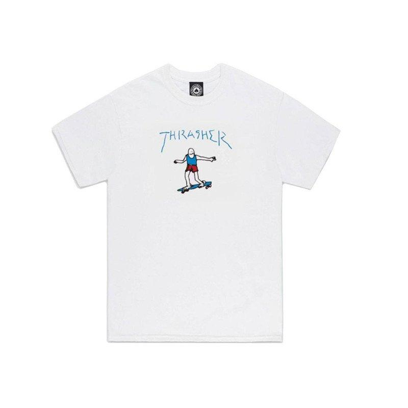 THRASHER Gonz Logo T-Shirt White MENS APPAREL - Men's Short Sleeve T-Shirts Thrasher M