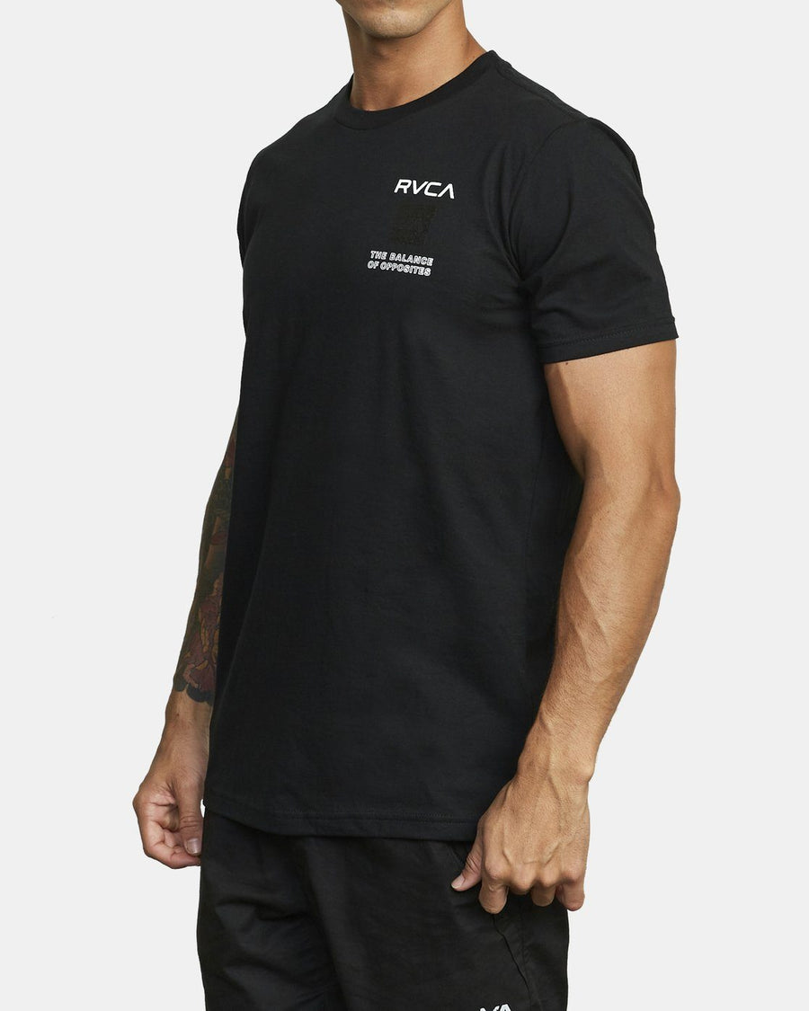 RVCA Box Out T-Shirt Black MENS APPAREL - Men's Short Sleeve T-Shirts RVCA M