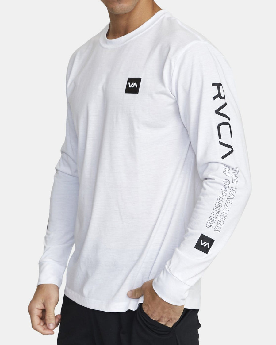RVCA VA Sport Long Sleeve T-Shirt White MENS APPAREL - Men's Long Sleeve T-Shirts RVCA L