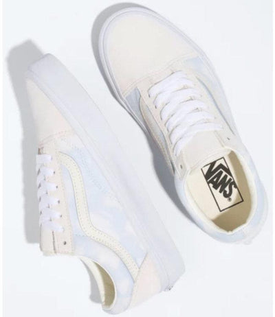 VANS Old Skool (Bleach Wash) Shoes Women's Ballad Blue FOOTWEAR - Women's Skate Shoes Vans