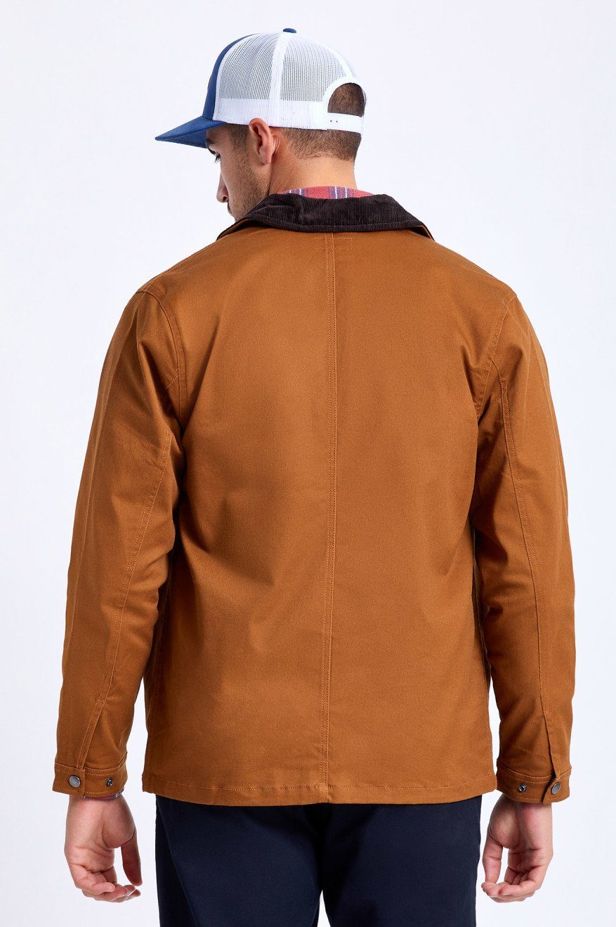 BRIXTON Survey Crossover Chore Coat Washed Copper MENS APPAREL - Men's Street Jackets Brixton