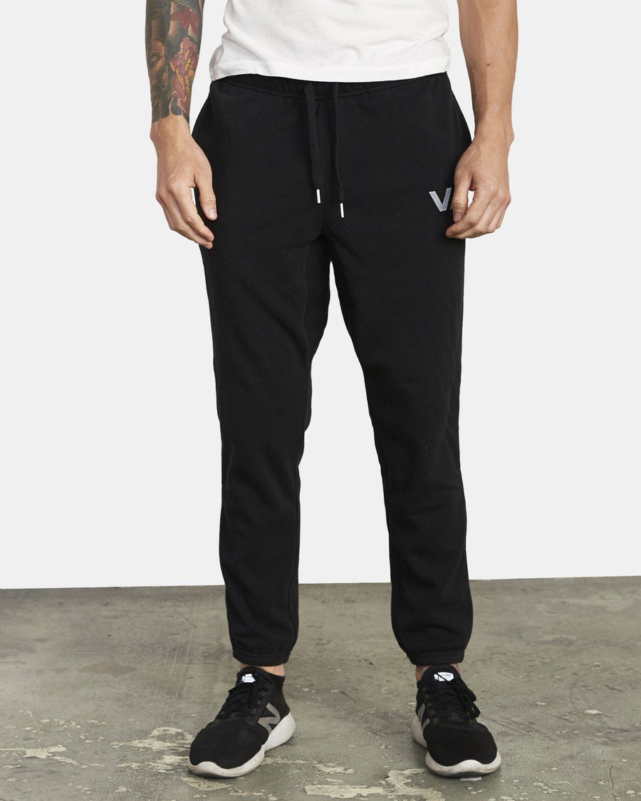 RVCA Swift Sweatpant Black MENS APPAREL - Men's Sweatpants RVCA S
