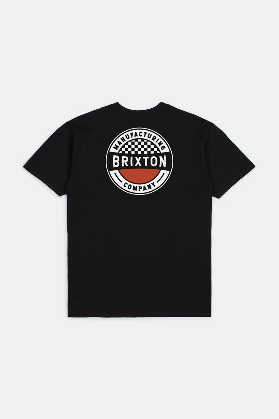 BRIXTON Terminal Standard T-Shirt Worn Wash Black MENS APPAREL - Men's Short Sleeve T-Shirts Brixton M