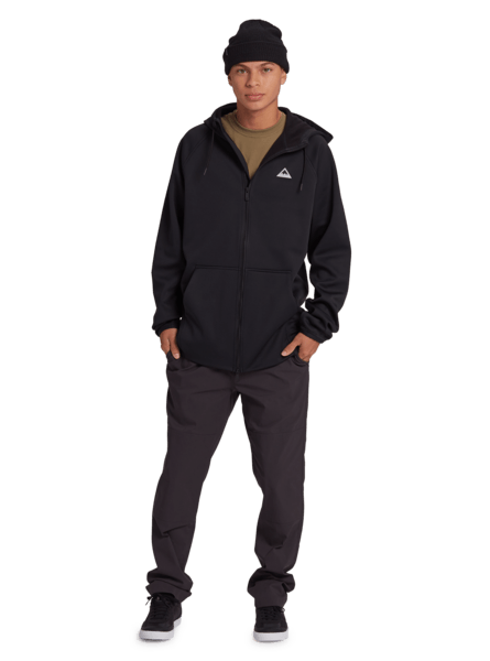 BURTON Crown Weatherproof Full Zip Hoodie True Black MENS APPAREL - Men's Zip Hoodies Burton M