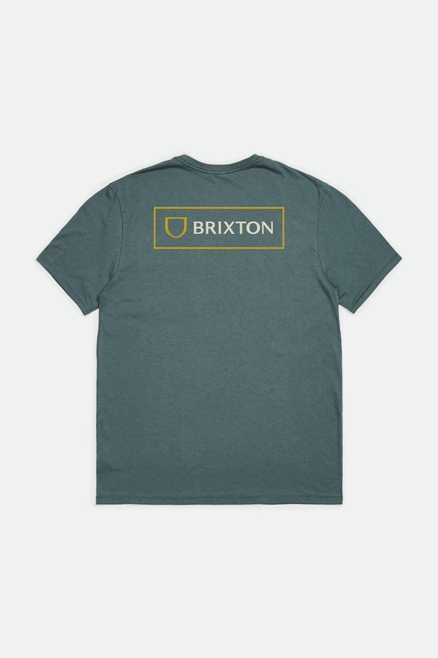BRIXTON Alpha Block Tailored T-Shirt Silver Pine MENS APPAREL - Men's Short Sleeve T-Shirts Brixton M