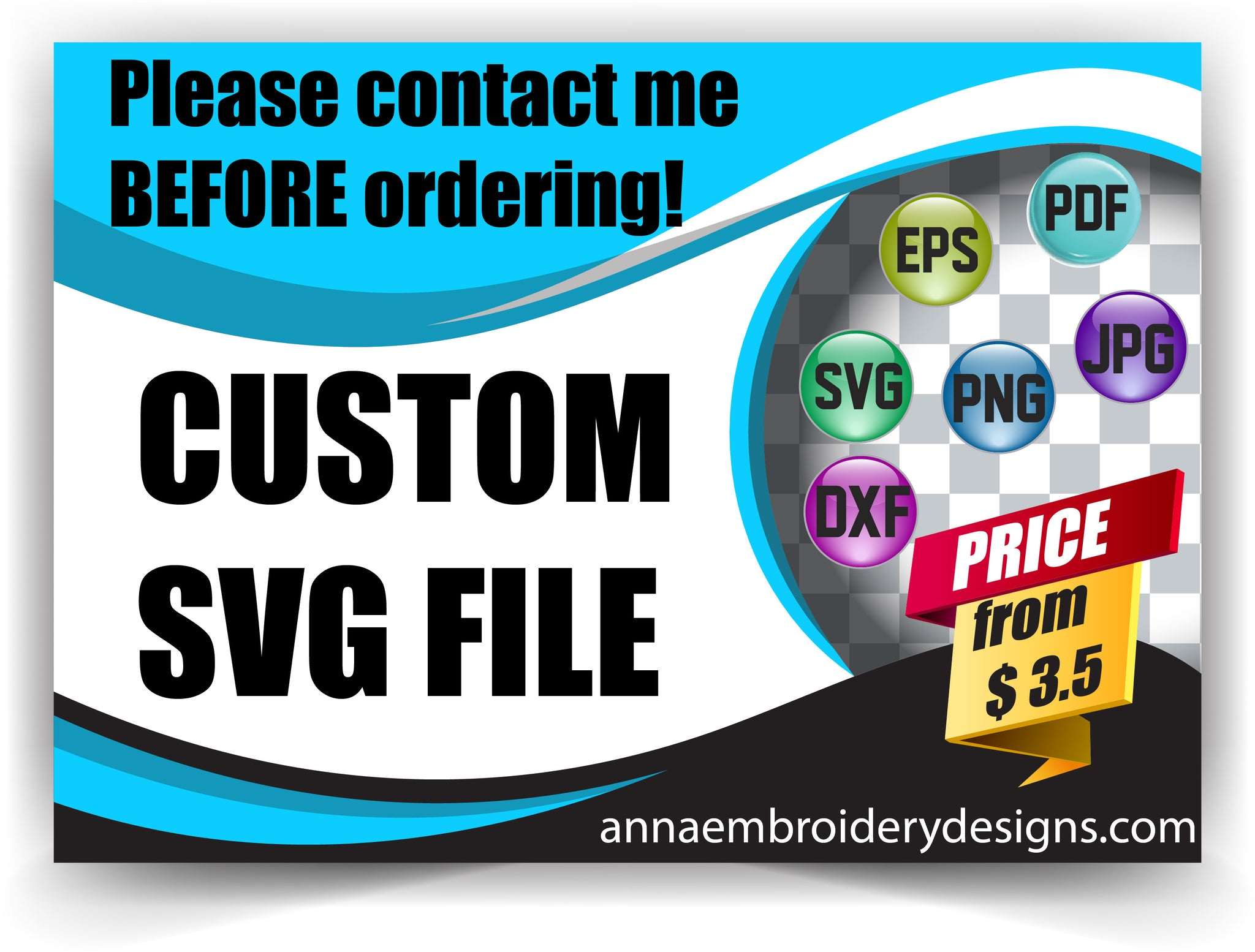 Custom Orders – Anna Embroidery Designs