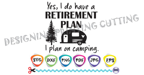 Happy Camper SVG Cut Files-Quotes SVG-Van Svg-Caravan svg-Camper svg- Silhouette Cutting File- SVG file for Cricut-Eps- Dxf- Pdf