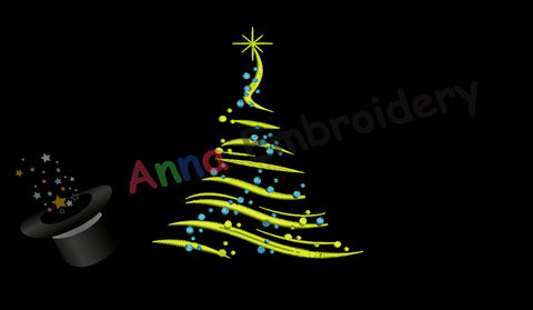 Free Embroidery Christamas Tree, Free Holiday Embroidery Design,Free Machine Patterns, Instant Download