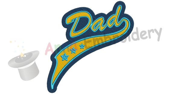 Dad Embroidery Design-Best Daddy Embroidery-Father's Day Machine Embroidery Patterns-Instant Download-PES