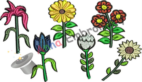 Free Embroidery Flowers Pack, Free Flower Embroidery Design,Free Machine Patterns, Instant Download