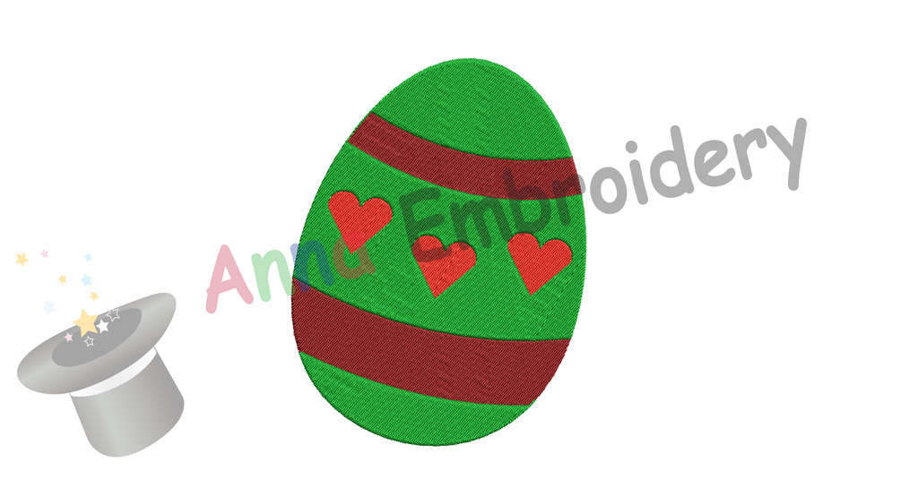 Free Easter Egg Embroidery Design, Free Decorated Egg Embroidery Design,Free Machine Patterns, Instant Download