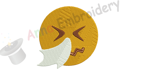 Custom Order Embroidery Design-Emoticon