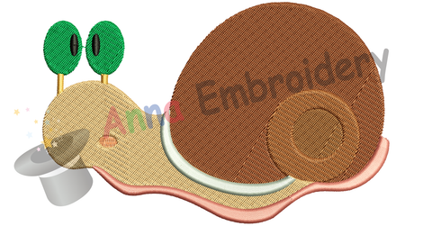 Free Embroidery Snail, Free Cute Snail Embroidery Design,Free Machine Patterns, Instant Download