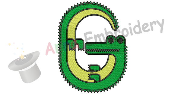 Gator Embroidery Design-Animals Embroidery Design-Mascot Embroidery-Embroidery Patterns-Instant Download-PES